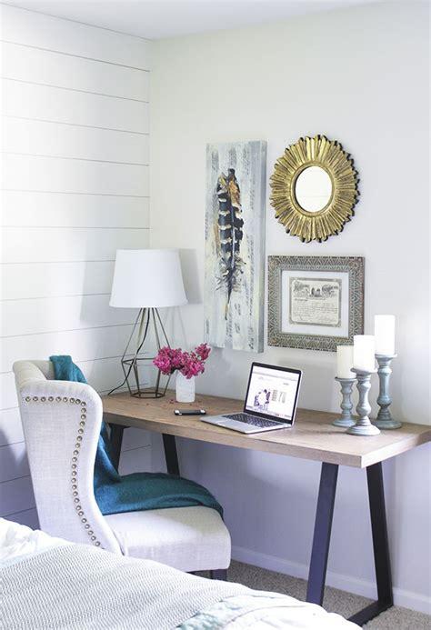 modern wooden desk modern wooden desk in bedroom with black metal legs and a