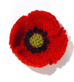 how to knit a poppy flower lella remembrance sunday