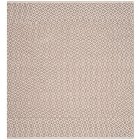 6 square area rug safavieh montauk ivory gray 6 ft x 6 ft square area rug