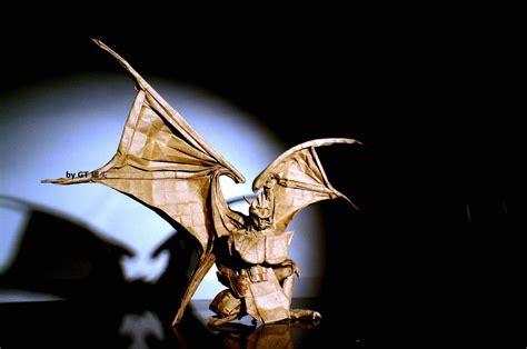 origami gargoyle great grandiose and glorious origami gargoyles