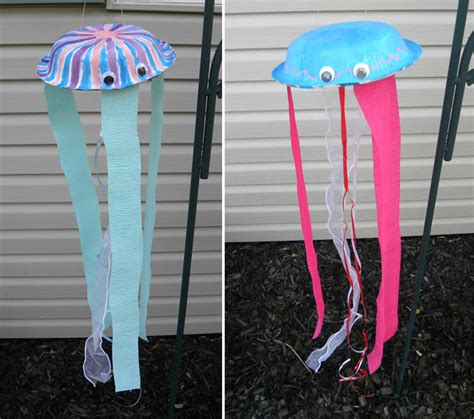 paper jellyfish craft summer kid s crafts paper plate jelly fish