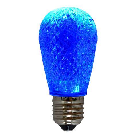 blue led light bulb led s14 light bulb medium base faceted bulb blue