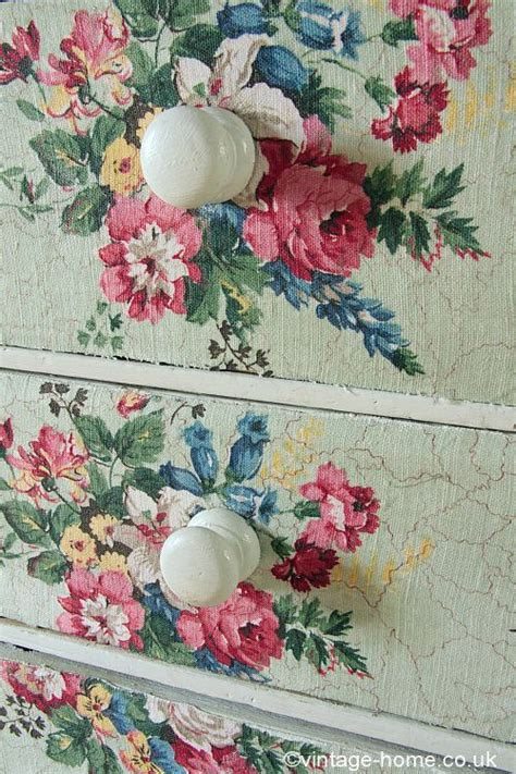 fabric decoupage dresser vintage home vintage floral fabric covered drawers www