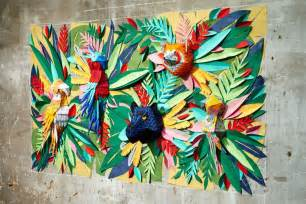 paper wall murals mlle hipolyte spent 2 weeks creating this awesome animal