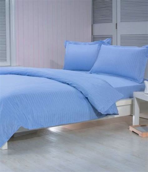 bed blue trance sky blue bed sheet with 2 pillow covers
