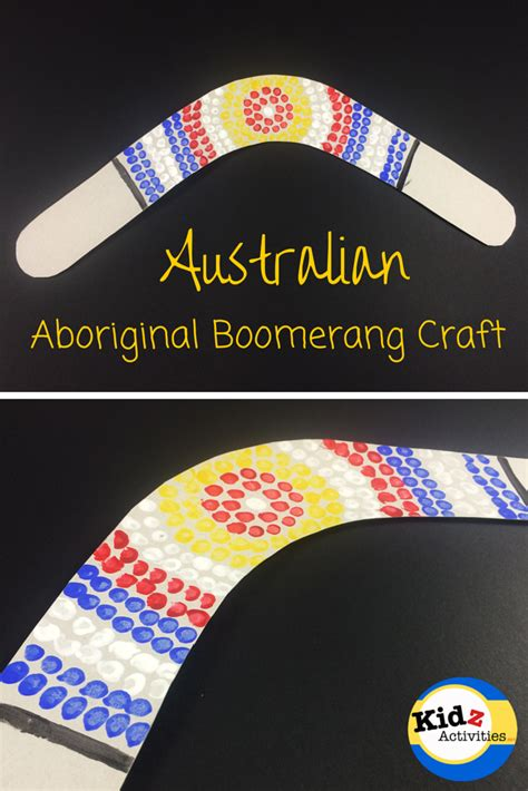 australia crafts australian aboriginal boomerang craft kidz activities