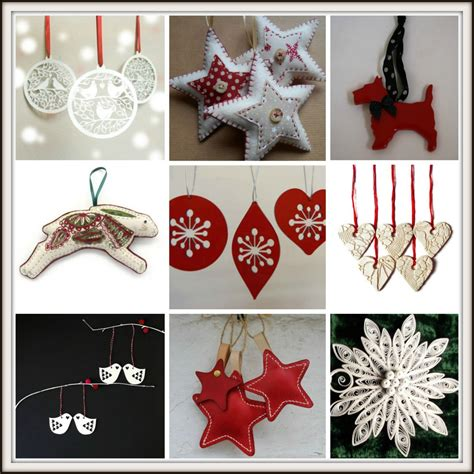 handmade decoration handmade and white tree decorations from