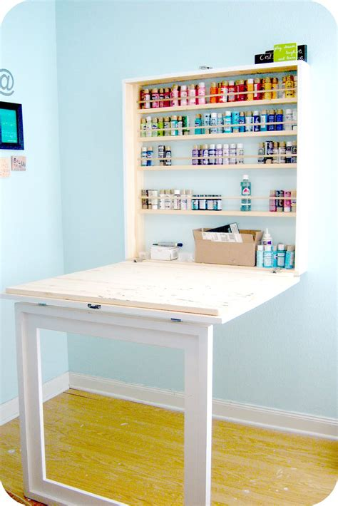 craft table craftaholics anonymous 174 craft paint storage ideas