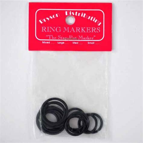 rubber st markers bryson rubber markers large black yarn barn of kansas