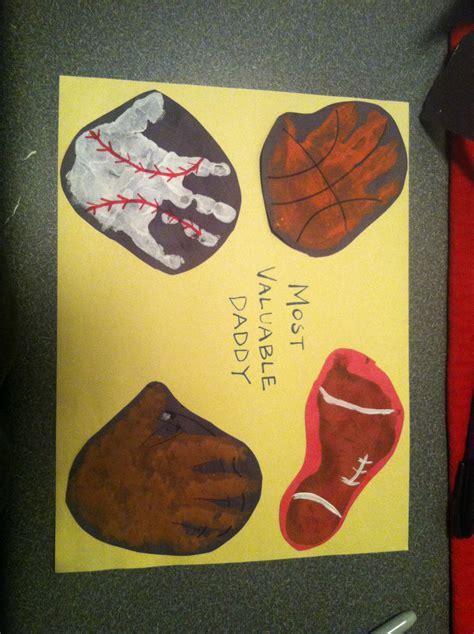sports themed crafts for handprint sports theme craft preschool
