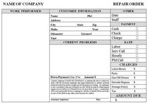 auto repair invoice template invoice example
