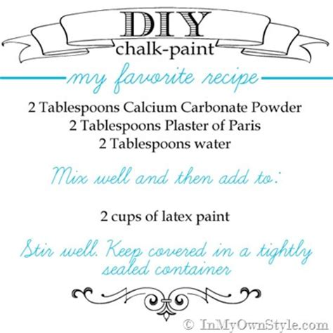 diy chalk paint using calcium carbonate diy chalk paint recipes make chalk paint in my own style