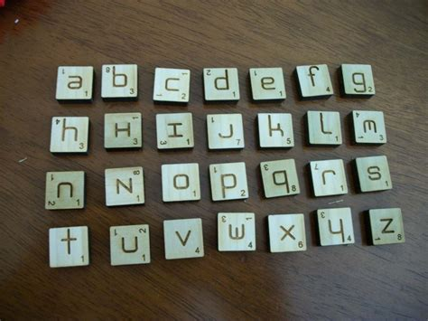 how many tiles in a scrabble ambigrammic letter tiles