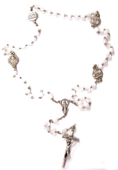 free rosary 4 basilica pearlized rosary from italy with free