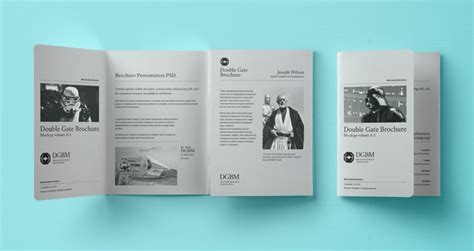 psd double gate fold brochure vol3 psd mock up templates