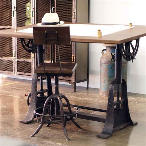industrial style office furniture industrial style drafting desks eclectic home office