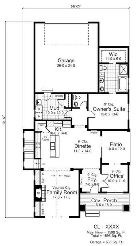 floor plans for narrow lots creativity and flexibility define narrow lot house plan styles