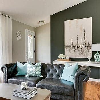 living room decor with black leather sofa leather sofa design ideas