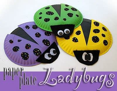 ladybug paper plate craft paper plate bugs crafts by amanda