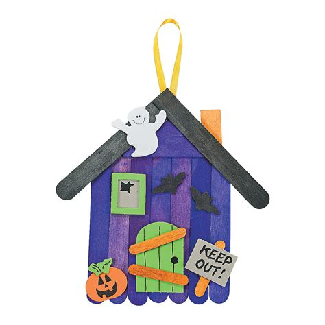 haunted house craft for craft stick haunted house banner craft kit