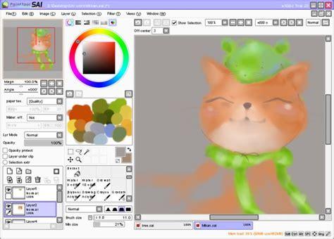 paint tool sai software license painttool sai 1 1 0 afterdawn software downloads