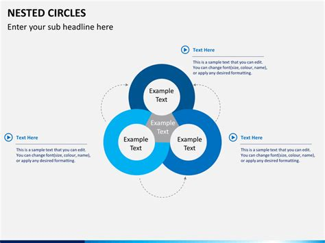 nested circle diagram powerpoint sketchbubble
