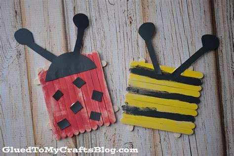 stick crafts for popsicle stick bugs kid craft