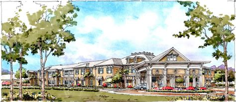 Drawing Interiors hand drawn rendering of assisted living facility