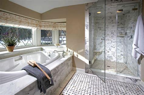 White Spa Bathroom by White Marble Spa Bathroom Modern Bathroom Milwaukee
