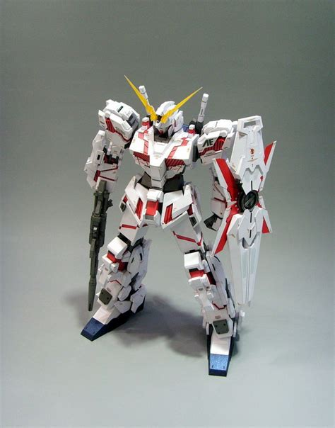 paper craft gundam rx 0 unicorn gundam papercraft by rarra