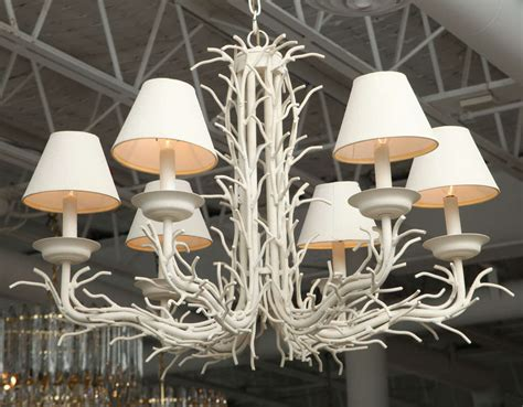 white coral chandelier white faux coral branch chandelier at 1stdibs
