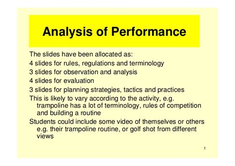 exles of exle of analysis of performance powerpoint