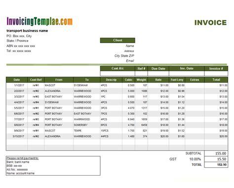transportation invoice