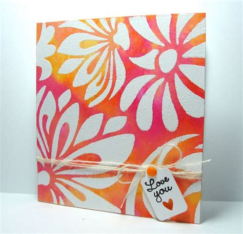 embossing stencils for card 17 best images about cards stencil backgrounds on