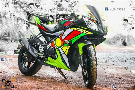 R15 V2 0 Modification by Yamaha R15 V2 Modified In Kerala Abstract Stickers