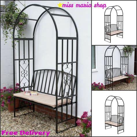 Garden Arch And Bench Garden Steel Arbour Bench Cushion Arch Patio Furniture