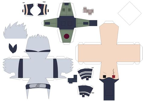 paper crafting templates sharingan kakashi papercraft template request by huski