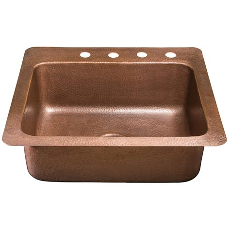 drop in copper kitchen sinks shop renovations by thompson traders 14 single basin