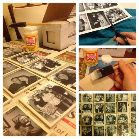 how to make decoupage coasters how to make decoupage tile coasters diy yeah