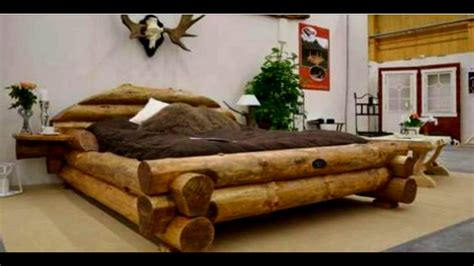 cool wooden bed frames 40 wood bed made ideas 2017 unique bed frame log
