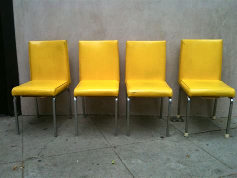 yellow dining room chairs original and bright modern yellow leather dining chairs
