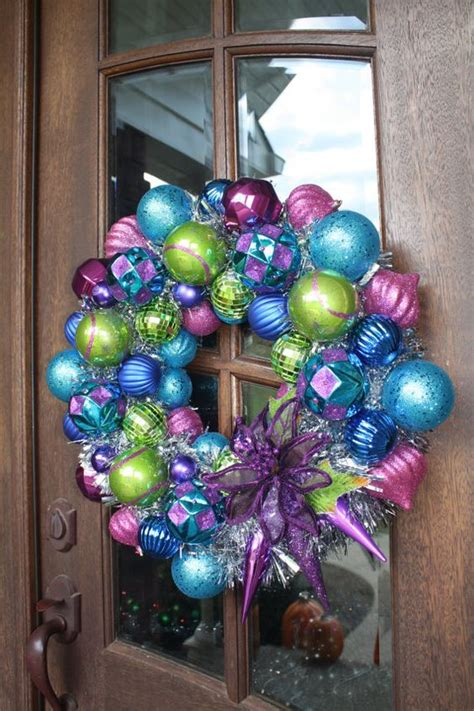 pink wreaths wreath purple blue pink green the