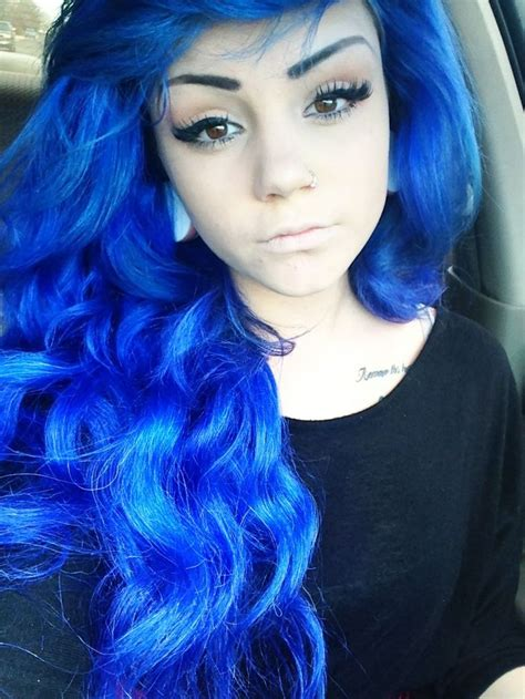 blue hair blue dyed hair pretty