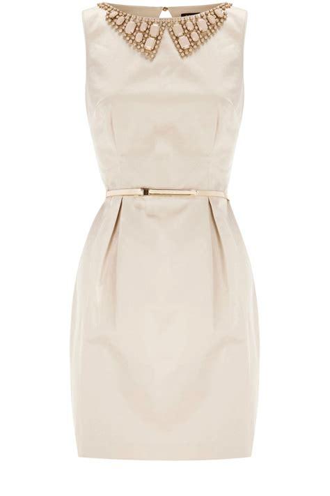 beaded collar dress oasis 60s beaded collar shift dress in lyst