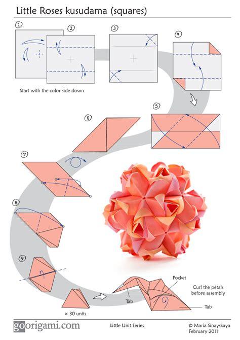 origami diagrams roses kusudama diagram