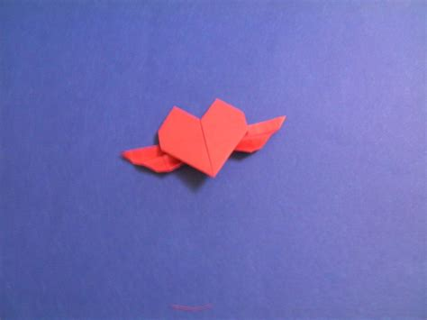 origami hearts with wings origami with wings by empapelarte on deviantart