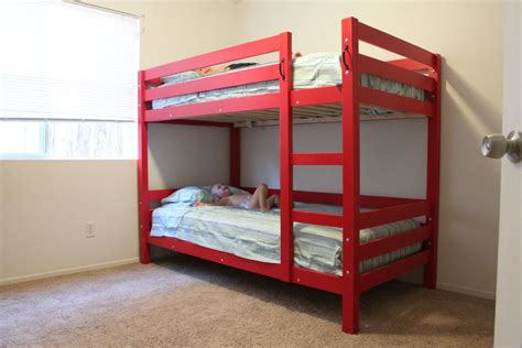 build bunk bed easy to build and unbuild bunk beds kreg owners community