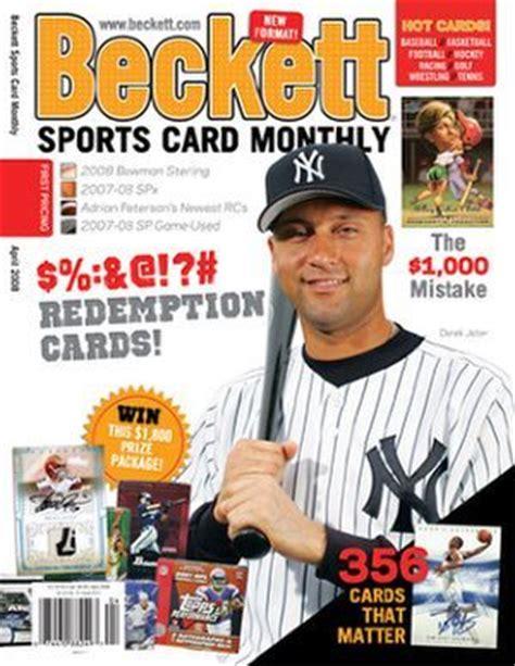 best card magazine beckett baseball collector magazine best subscription deal