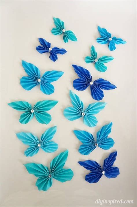 paper butterfly craft diy accordion paper butterflies diy inspired
