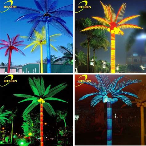 plastic for lights new style lights outdoor artificial palm trees